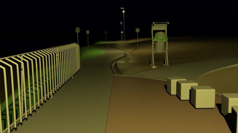 Avenida primera Montería en 3D